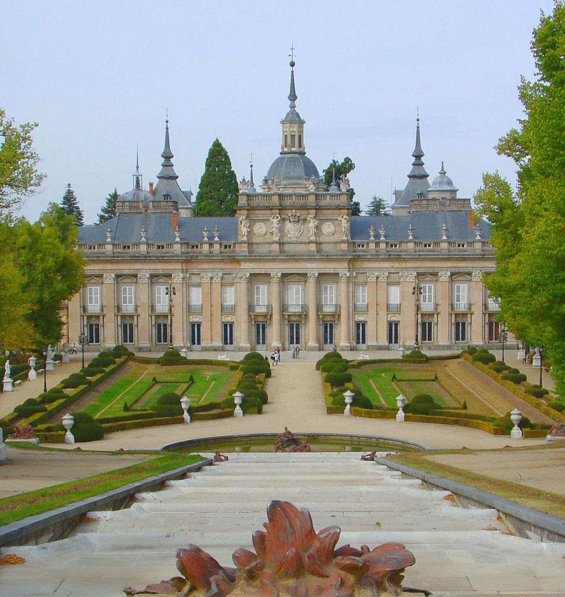 Real Fábrica de cristales y jardines del Palacio de la Granja